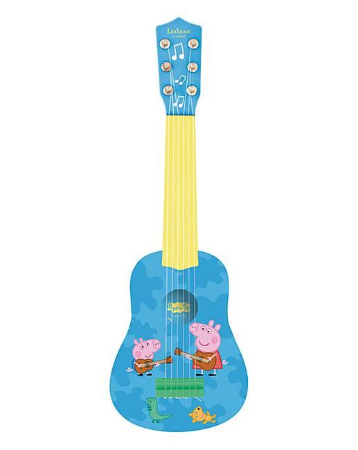 lexibook my first guitar 21in peppa pig j d williams. Black Bedroom Furniture Sets. Home Design Ideas