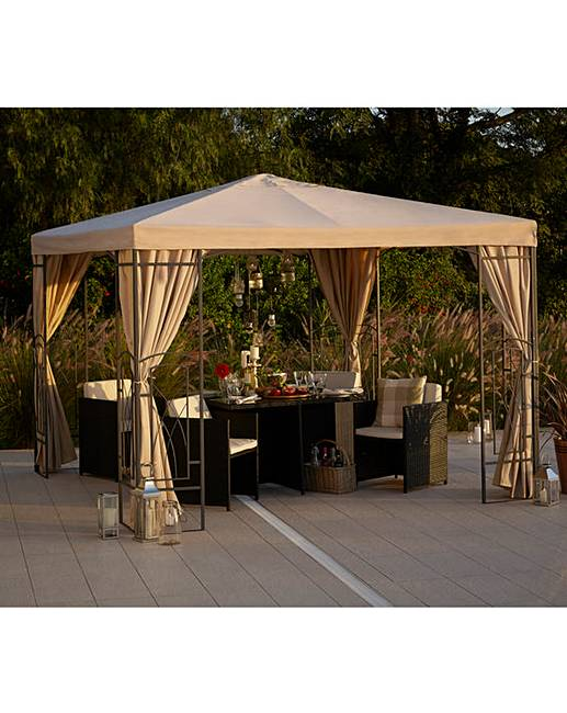 2 5 metre pvc decorative square gazebo fashion world. Black Bedroom Furniture Sets. Home Design Ideas
