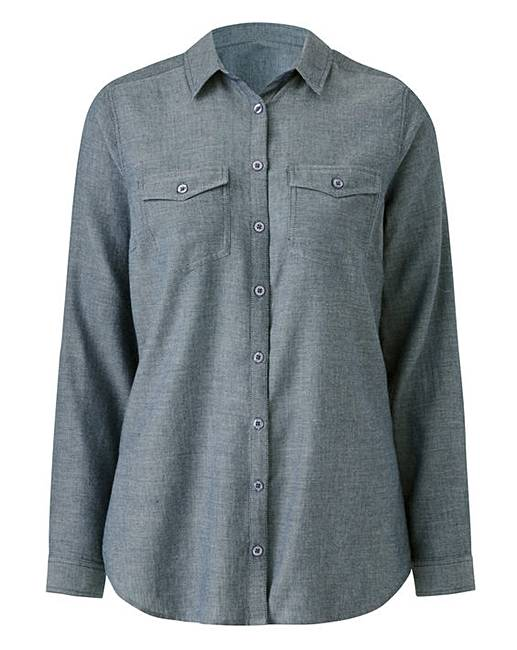 Blue chambray shirt crazy clearance for Cuisine you chambray