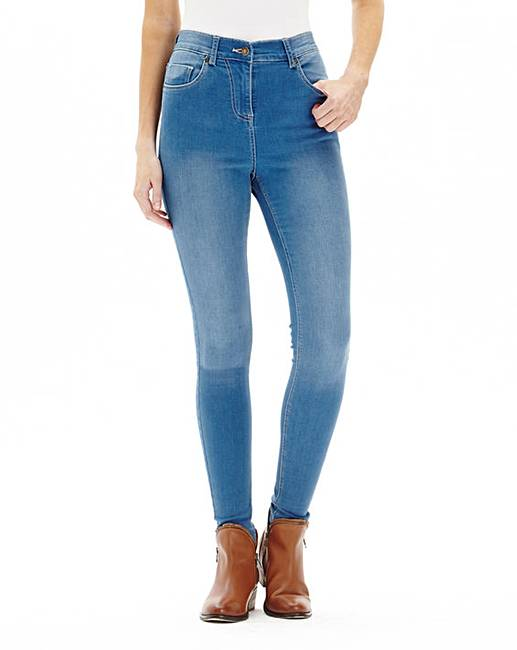 Lucy High Waist Skinny Jeans Reg | Simply Be