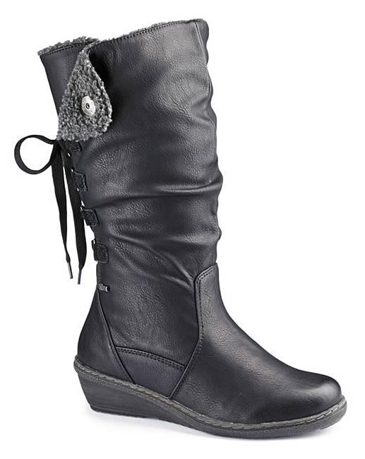 relife hi leg wedge boots curvy calf eee marisota