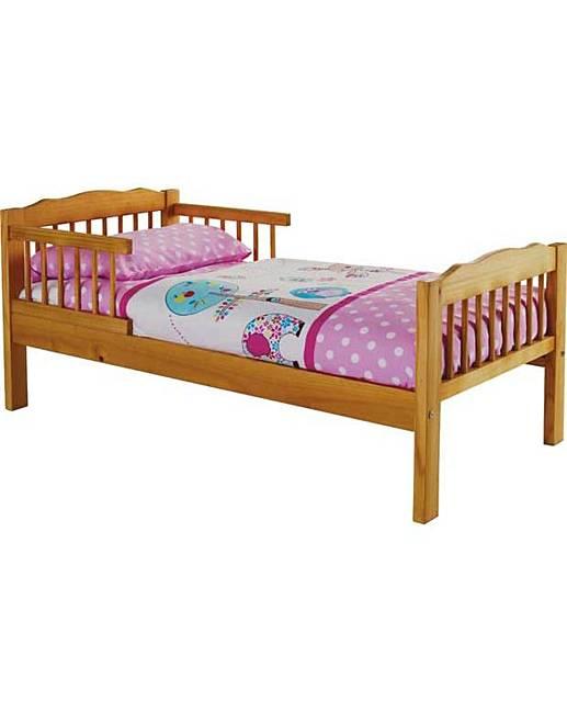 Antique Pine Toddler Bed Frame