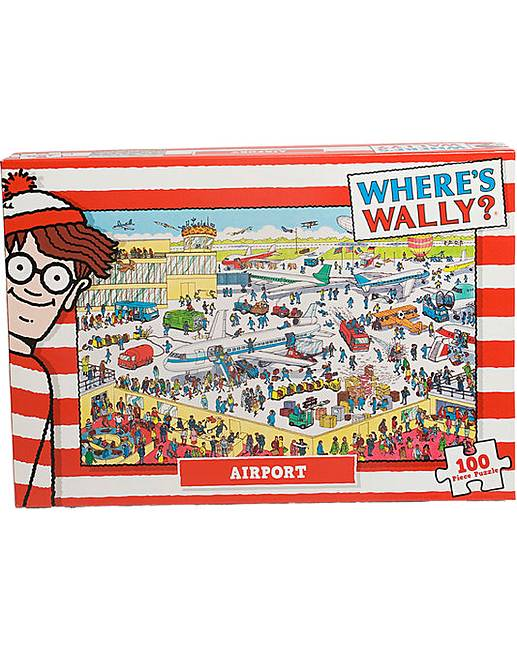 wheres wally airport 100 piece jigsaw premier man. Black Bedroom Furniture Sets. Home Design Ideas