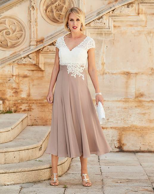 Nightingales Dress With Lace Detail Fifty Plus