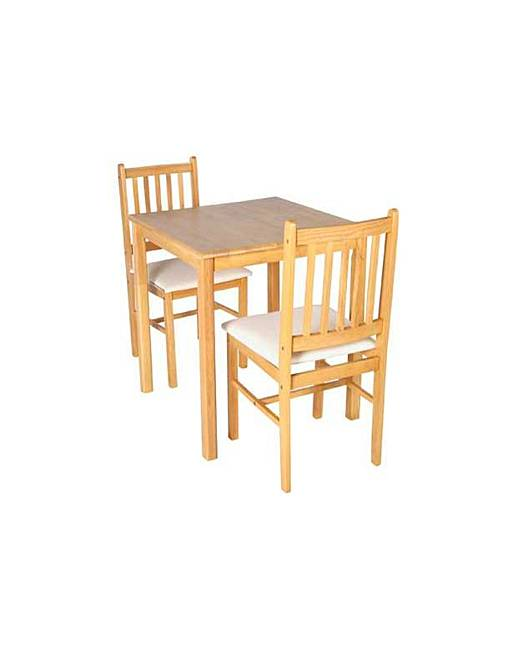 square dining table and 2 chairs j d williams