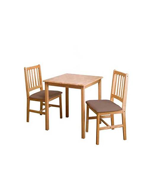 square dining table and 2 chairs marisota