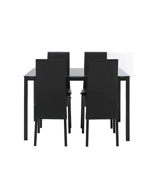Hygena Dining Table amp 4 Black Chairs J D Williams : ej28582 5037968 atd039x from www.jdwilliams.co.uk size 517 x 650 jpeg 19kB