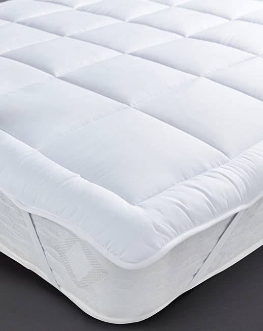 soft like down mattress topper fashion world. Black Bedroom Furniture Sets. Home Design Ideas