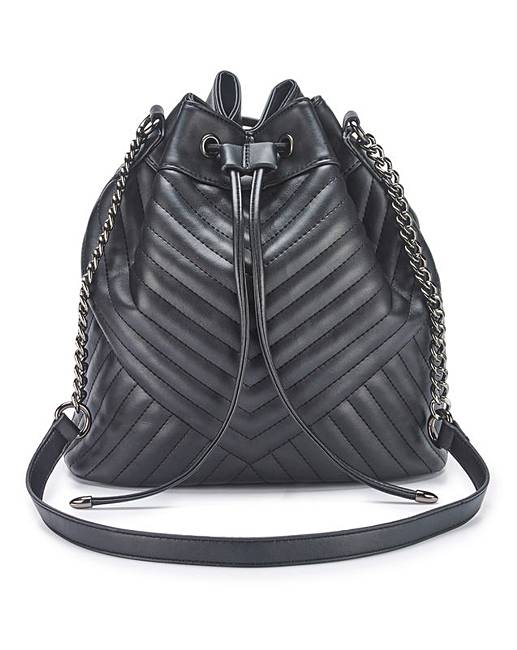 Chevron Quilted Duffle Bag With Chain | Simply Be : quilted duffle bags - Adamdwight.com