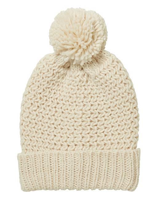 Chunky Knit Bobble Hat Marisota