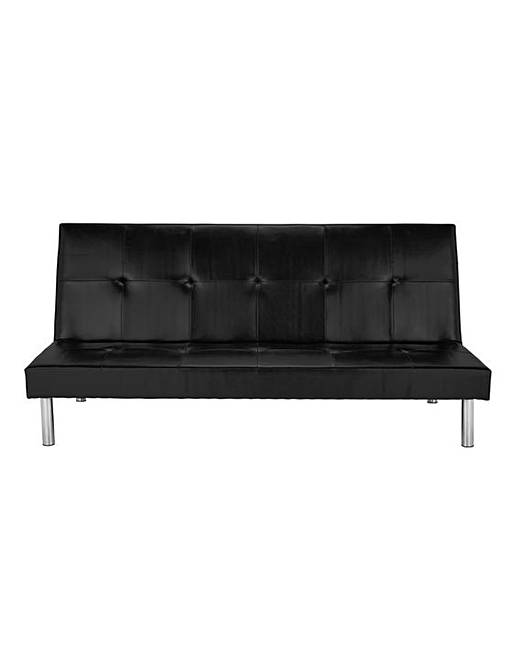 Bailey Faux Leather Click Clack Sofabed