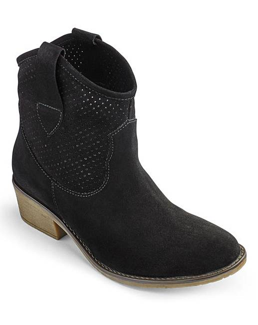 Heavenly Soles Suede Ankle Boots