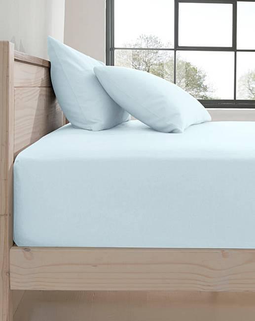 extra deep flannelette fitted sheet j d williams. Black Bedroom Furniture Sets. Home Design Ideas
