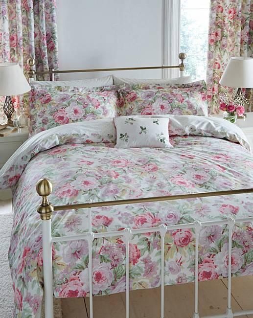 sanderson amelia rose duvet cover set j d williams. Black Bedroom Furniture Sets. Home Design Ideas