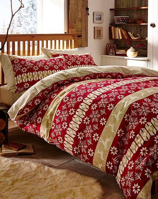 reindeer brushed cotton bedding bundle oxendales. Black Bedroom Furniture Sets. Home Design Ideas