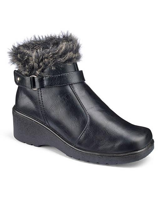 cushion walk wedge ankle boots e fit julipa