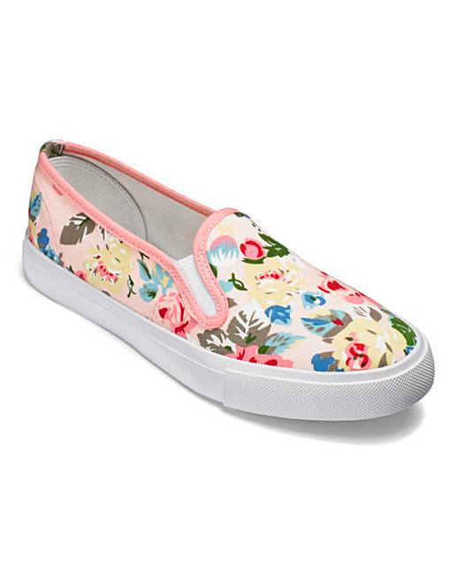 Canvas Slip On Shoes Extra Wide Eee Fit
