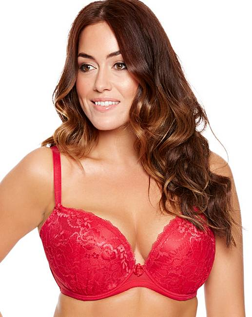 Ann Summers Sexy Lace Red Plunge Bra | Simply Be