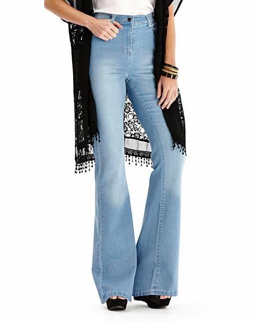 Phoebe High Waist Kick Flare Jeans Reg | Simply Be