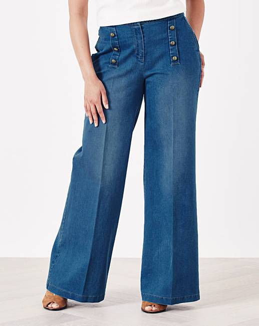 Simply Be Gracie Wide Leg Jeans | Simply Be