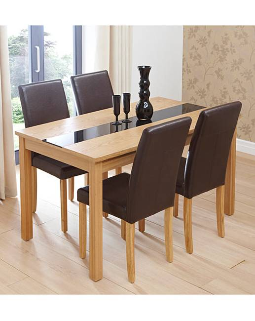 Ashford Ash Table And 4 Madison Chairs Simply Be