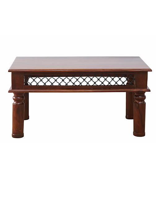 Jaipur Solid Sheesham Wood Coffee Table Fashion World