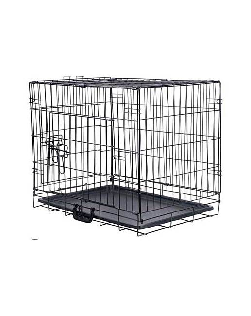 Double door pet cage medium home beauty gift shop for Double door with dog door
