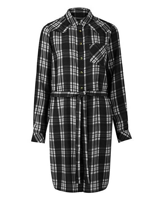 Black White Check Shirt Dress Oxendales