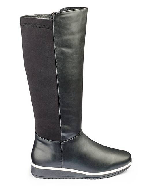 heavenly soles knee high boots e fit simply be