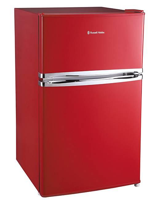 russell hobbs u c red fridge freezer fifty plus. Black Bedroom Furniture Sets. Home Design Ideas