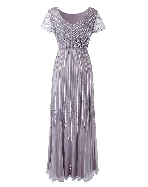 together beaded maxi dress marisota
