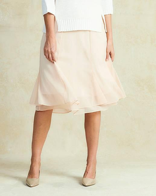 hem knee length skirt fifty plus