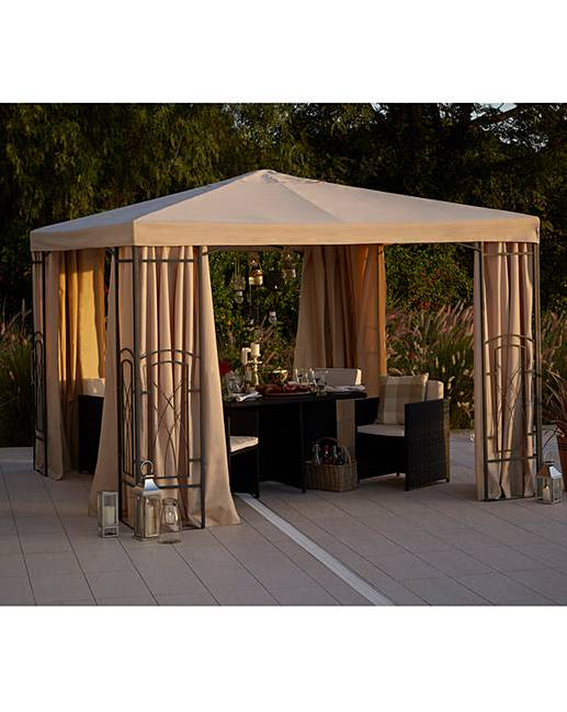 2.5 Metre PVC Coated Decorative Gazebo  J D Williams