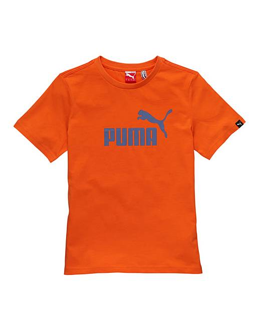 Puma Boys Logo T Shirt Fifty Plus