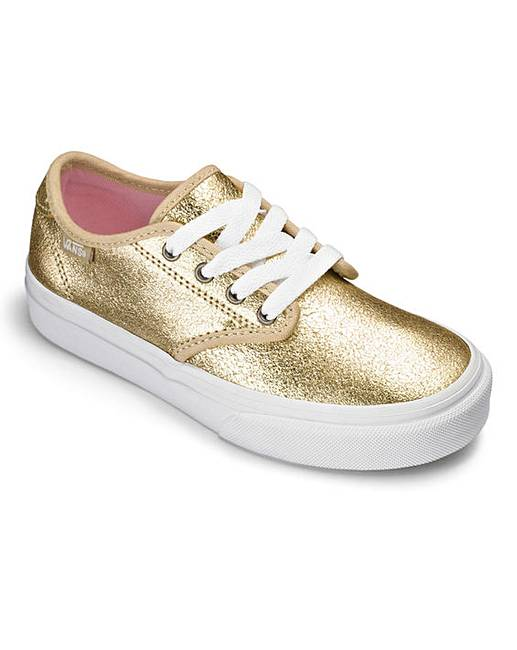 vans camden canvas shoes metallic gold fashion world