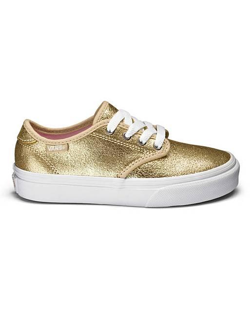 vans camden canvas shoes metallic gold oxendales