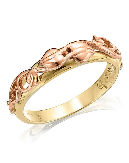 Clogau Rose Gold And Silver Tree Of Life Band Ring