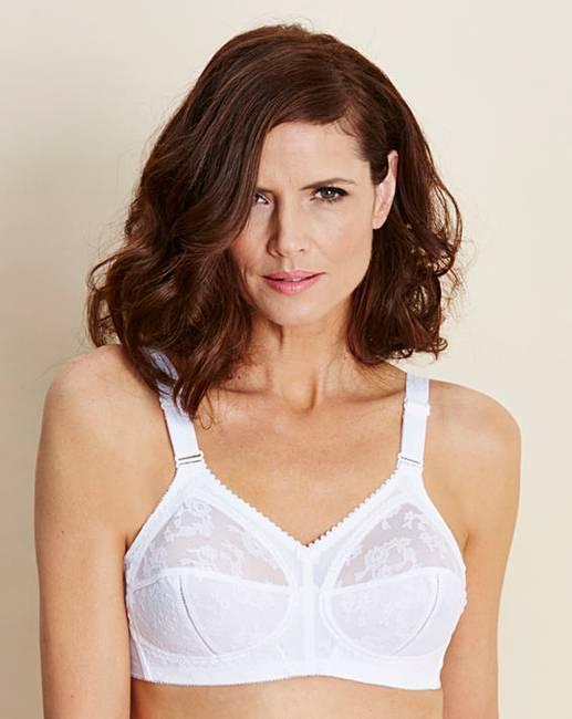 Triumph doreen non wired white bra fifty plus for Triumph t shirt bra