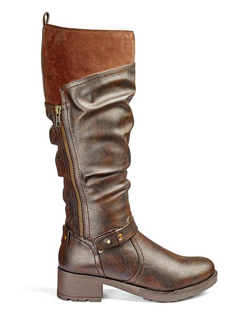 heavenly soles knee boots e fit curvy simply be