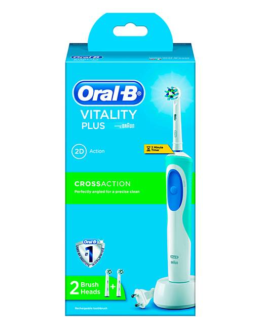 oral b vitality cross action toothbrush high mighty. Black Bedroom Furniture Sets. Home Design Ideas