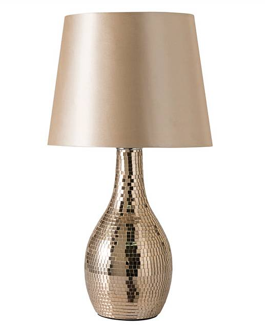Rose Gold Mosaic Table Lamp