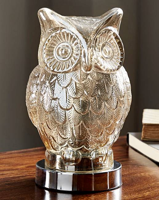 Owl Glass Table Lamp