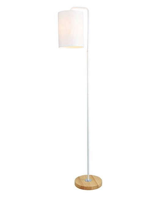 eden wooden base floor lamp white marisota. Black Bedroom Furniture Sets. Home Design Ideas