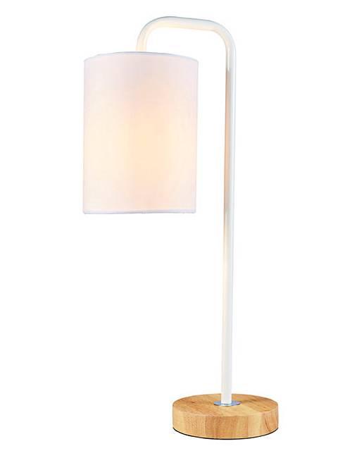 eden wooden base table lamp white j d williams. Black Bedroom Furniture Sets. Home Design Ideas