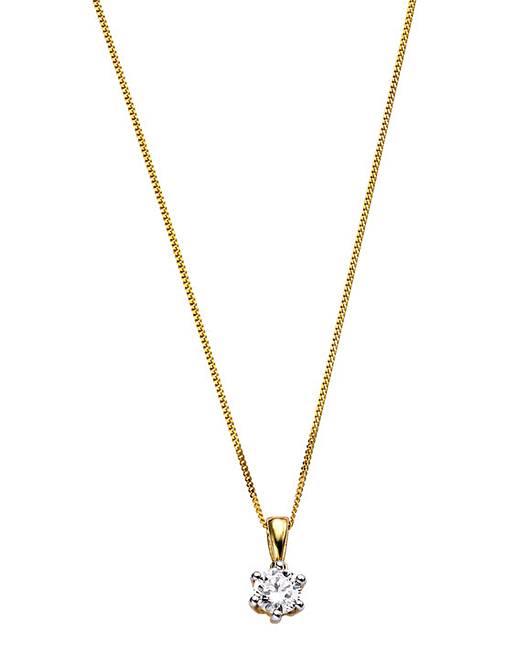 9 carat gold 12 carat diamond pendant simply be 9 carat gold 12 carat diamond solitaire pendant aloadofball Gallery