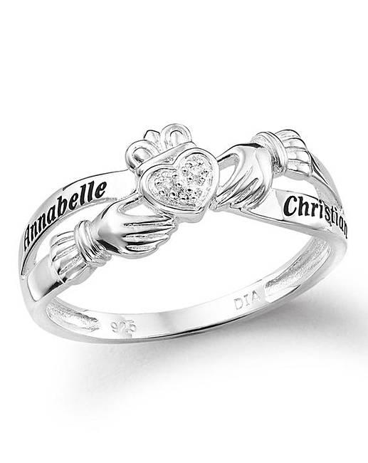 silver personalised claddagh ring fashion world