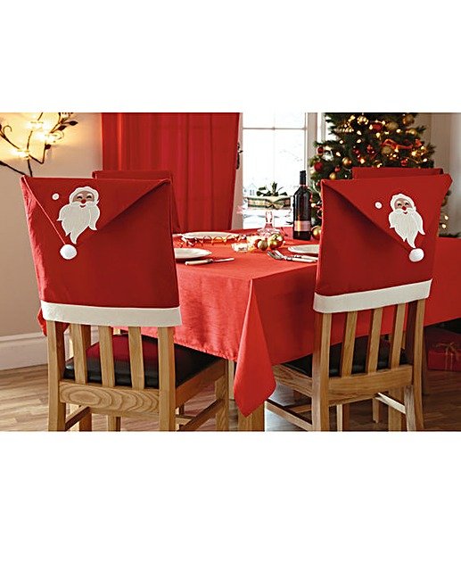 Santa Chair Back Covers Set 4 Crazy Clearance