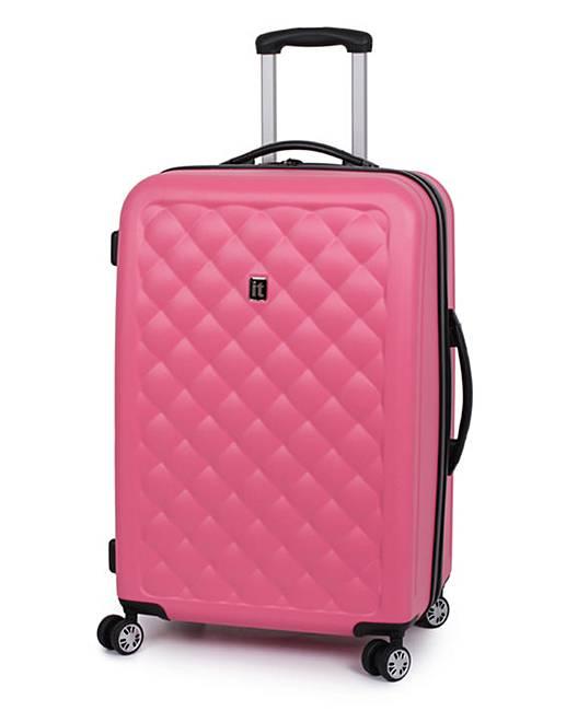 IT Luggage 63.5cm Medium Suitcase -Coral | J D Williams