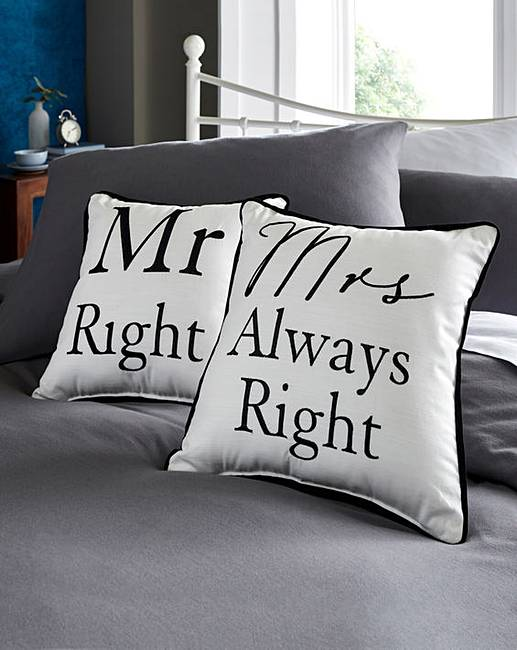 Mrs Always Right Collection Review: Mr Right & Mrs Always Right Cushions