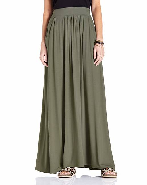 jersey maxi skirt simply be